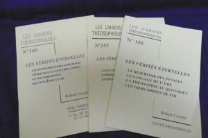 Photo couverture des Verités Eternelles en Cahiers Théosophiques