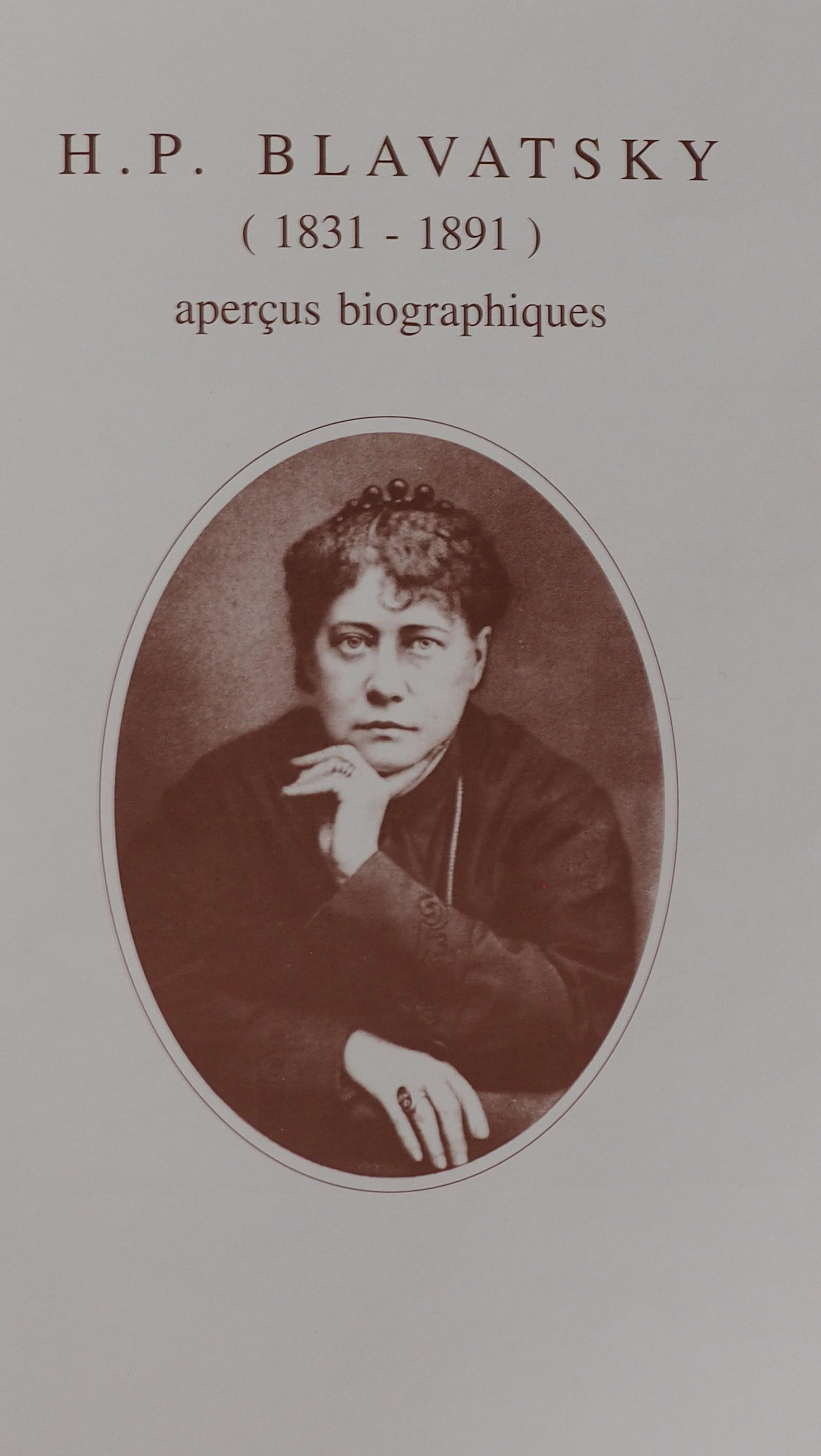 Photo couverture des Aperçus biographiques de H.P.Blavatsky