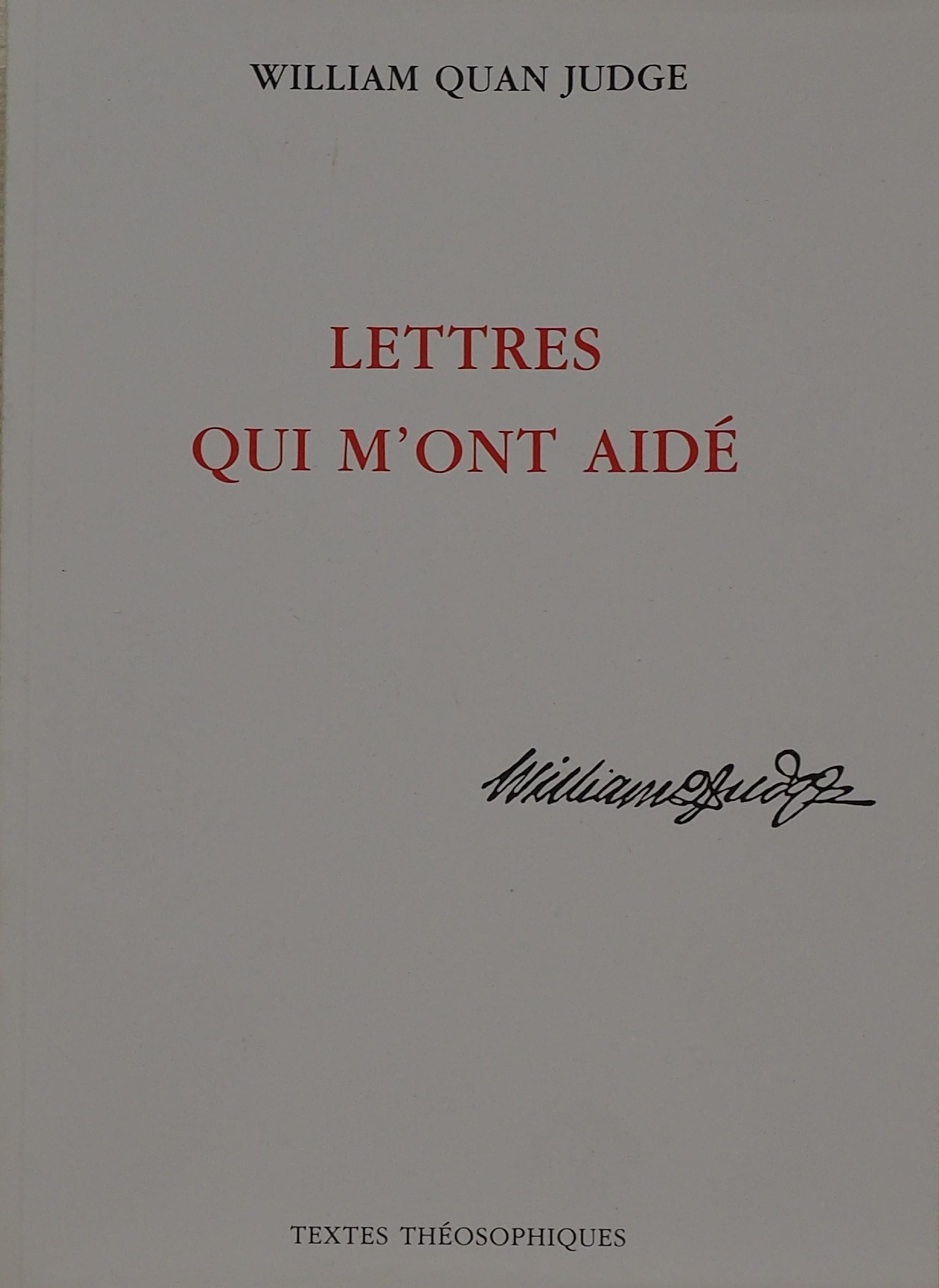 Photo couverture du livre Les Lettres qui m'ont aidé