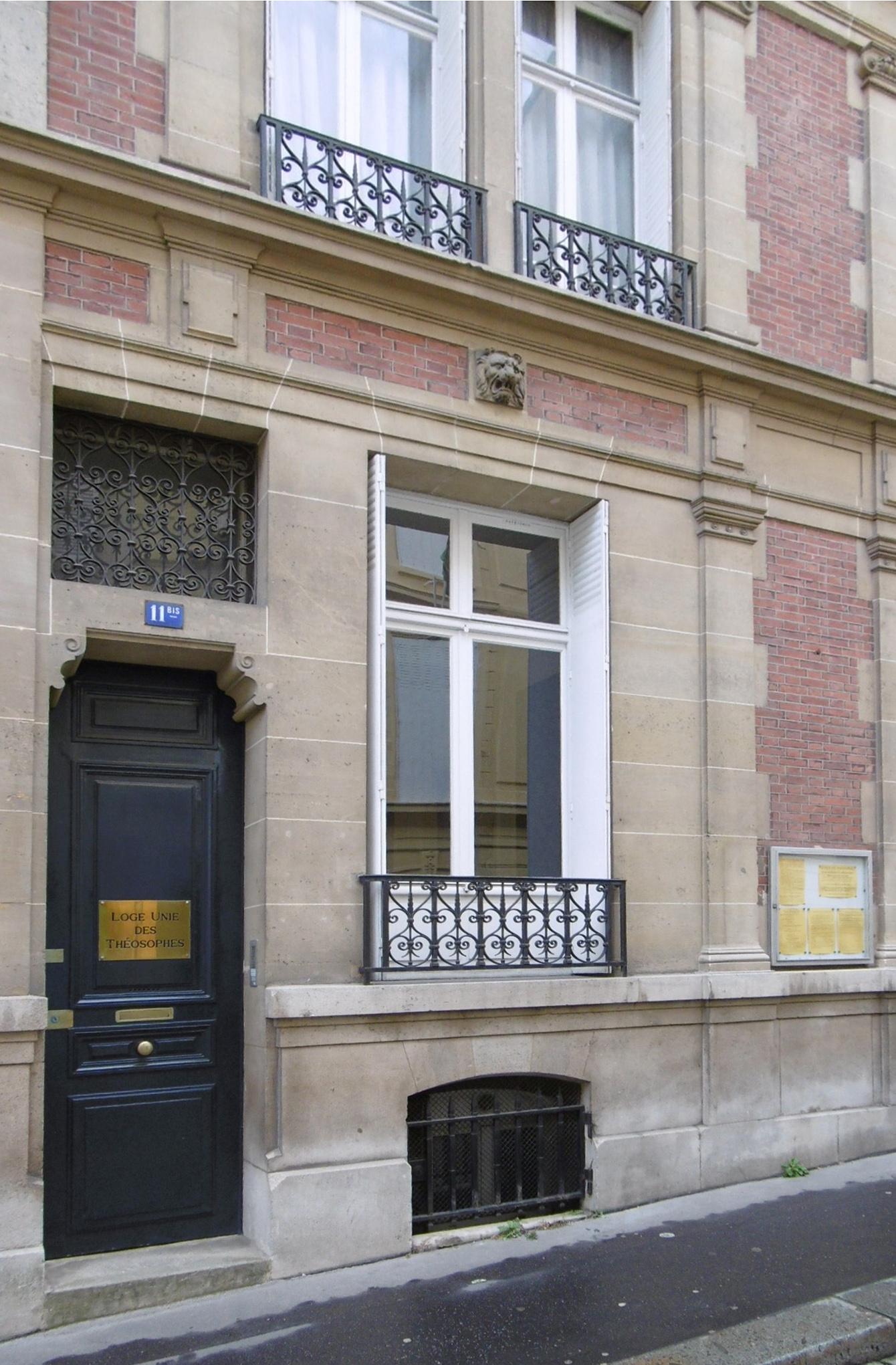 La façade de la rue
